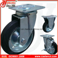 Economical Japanese Rubber Caster with Elastic Rubber Wheel