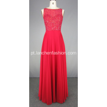 Crystal Beaded Pavimento Comprimento Prom Evening Gown