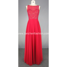 Crystal Beaded Floor Length Prom Evening Gown