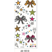 2017 Newest Body Art Customized Glitter powder body art tattoo sticker with high quality