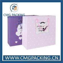 Sac d'emballage pourpre imprimé personnel (DM-GPBB-218)