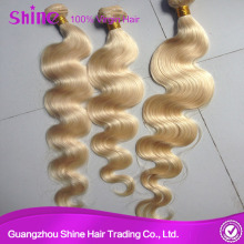 European Remy Human Hair blonde Color 613