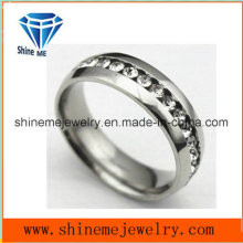 Fashion Zircon Tungsten Steel Ring Zirconia Jewelry Ring (TST2868)