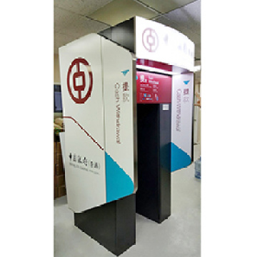 Waterproof Bank Outdoor ATM Machine Signage Stainless Steel ATM Booth