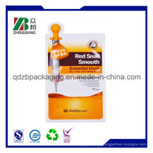 Plastic Facial Mask Bag for Cosmetic Pack with Custom Logo