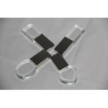 Movimentação de cristal o mais quente do flash de USB com logotipo interno