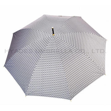 Lichtgewicht Houndstooth Check Auto Open Straight Umbrella