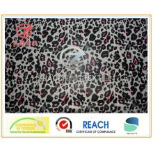 Tissu de vêtement d'impression en léopard polyéthylène 210t (ZCGP087)