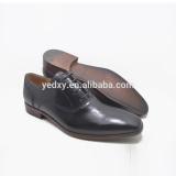 black color latest design genuine leather official shoes for men