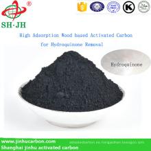 Carbón activado a base de madera de alta adsorción para la eliminación de hidroquinona