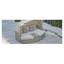 Jardín pabellón Hotel tumbona Rattan Patio al aire libre muebles de mimbre de