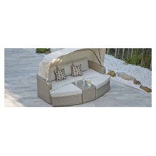 Wicker Garden Canopy Hotel Daybed Rattan Outdoor Patio Furniture