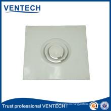 Rejilla de aire acondicionado HVAC Difusor de techo redondo de aluminio