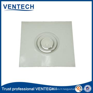 Diffuseur rond en aluminium de plafond de gril de climatisation de la CAHT