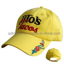 Gorra de béisbol de encargo del ocio del bordado de la tela cruzada del algodón del algodón (TMB6458)