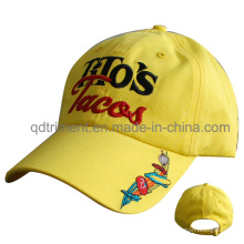 Custom Cotton Chino Twill Broderie Leisure Baseball Cap (TMB6458)