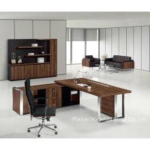 Bureau en bois moderne en bois de bureau en L (HF-TWB113)