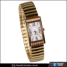 rectangle diamond case gold watch lady