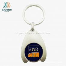 Pièce promotionnelle de Token de chariot à logo de cadeau promotionnel de la Chine avec Keychain