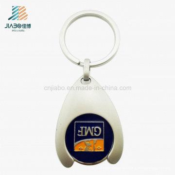 Promotional Gift China Customized Logo Trolley Token Coin with Keychain
