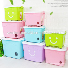 Durable high quality 50L plastic clothes storage box Mould with Cover in China