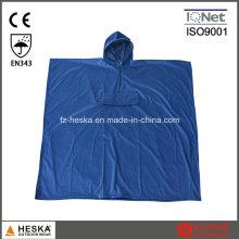 Venda quente Mens PVC capuz casaco Poncho de chuva