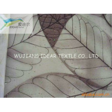 Printed Bright Polyester Organza Fabric For Curtain