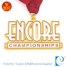 Suministre la medalla suave del recuerdo del premio del esmalte del metal de la buena calidad con hueco hacia fuera