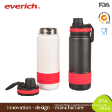 Everich Wide Mouth Vacuum Sports Drink Bottle With Sports Lid