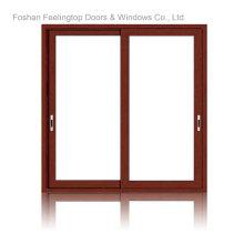 Fenêtre coulissante en aluminium à rupture de pont thermique à double vitrage commercial (FT-W85)