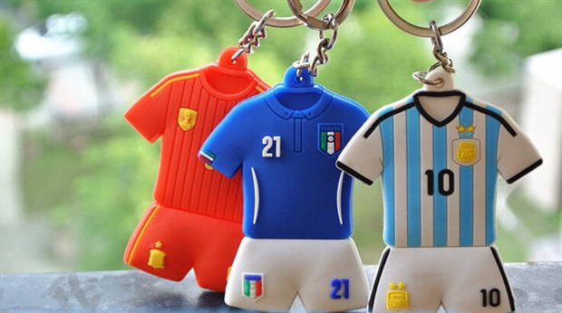 World Cup cadeau Silicone Keychain Dispensing Machine