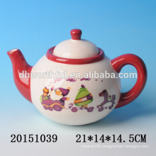 2016 new christmas tableware,decorative ceramic christmas teapot with santa claus painting