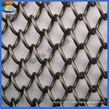 Vente en gros de maillons métalliques en chaîne galvanisée, filetage en fil de chaîne