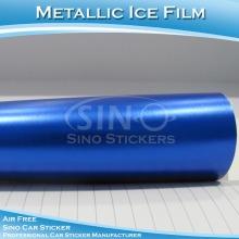 High Polymer PVC Material Ice Blue Matt Metallic Car Fim