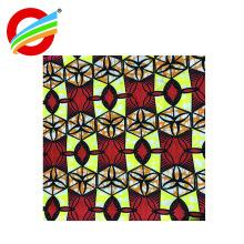 Tecido de impressão de cera brilhante cores Africano java para Sapatos