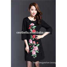 2016 new fashion trendy casual cotton Embroidery sweater elegant designs for noble ladies