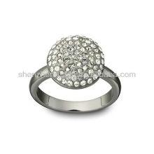 Venda al por mayor el anillo lleno del Rhinestone de la última manera 2015 de la joyería del acero inoxidable de la fábrica del surtidor