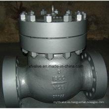 600lb / 900lb / 1500lb Válvula de retención de colgante de brida Wcb de acero fundido