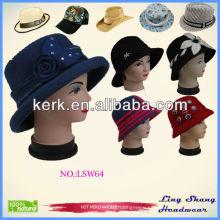 2014 fashionable design new style ladies pretty elegant felt wool hat , LSW64