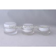 Recipiente de acrílico transparente ovalado 15ml 20ml 30ml 50ml