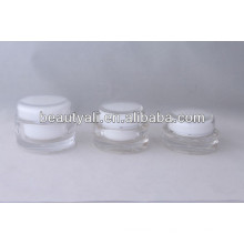 Oval Transparent Acrylic Container 15ml 20ml 30ml 50ml