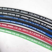 1-1/4 inch gray wrap surface SAE 100 R6  fiber reinforced hose