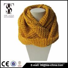Nueva bufanda de acrílico del infinito del knit del reverso del invierno de la manera de la llegada