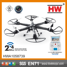 2.4G Quadcopter with 6-axis illuminated flying saucer with LCD gyro
