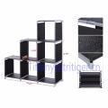 living room storage organizer cabinet Home foldable plastic shelf