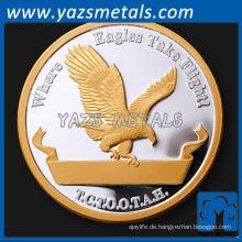 Herstellung Herausforderung benutzerdefinierte Gold Silber Metall Münze