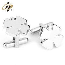 Gemelos personalizados de metal de la camisa del traje de plata de la moda del logotipo de los nuevos productos para los hombres