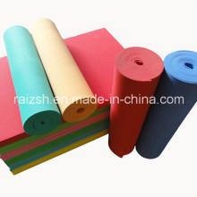 Atacado plástico colorido EVA material de isolamento espuma rolo