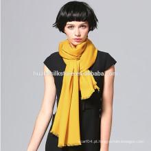 70x200cm Atacado 10 cor sólida disponível lã lenço de inverno amarelo