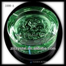 K9 Kristall und Farbglasur Aschenbecher